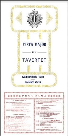 FESTA MAJOR DE TAVERTET 2019